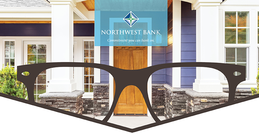 Northwest Bank (image of glasses and home)