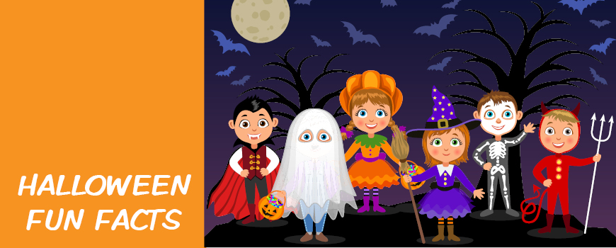 Halloween Fun Facts - Kids dressed up image