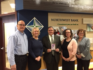 Northwest Bank staff receiving Corporate Crown award