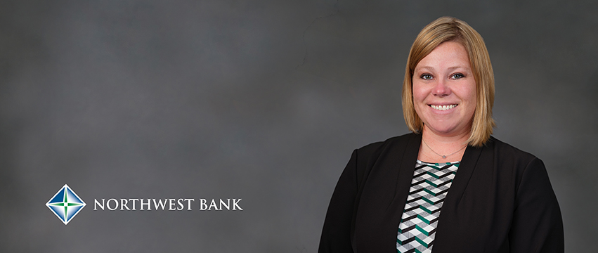 Northwest Bank logo and photo of Melissa Moody