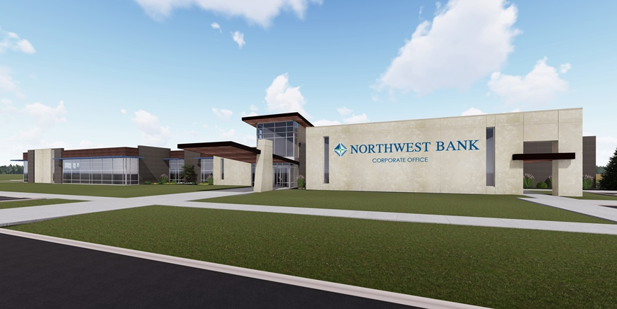 Image of new Northwest Bank building rendering