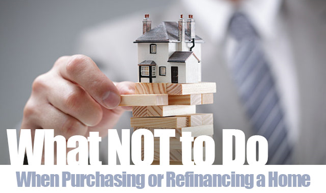 Image of what to do when purchasing or refinancing a home.