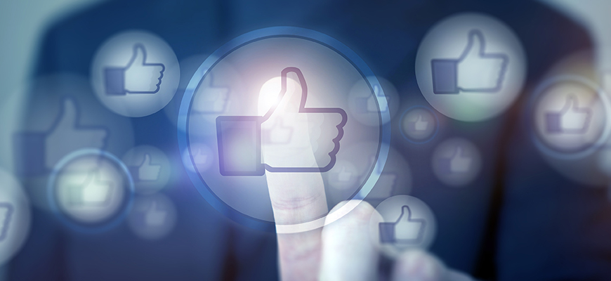 image of thumbs up social media icon