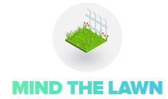 Image of a lawn stating mind the lawn