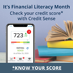 It's Financial Literacy Month. Check your credit score* with Credit Sense