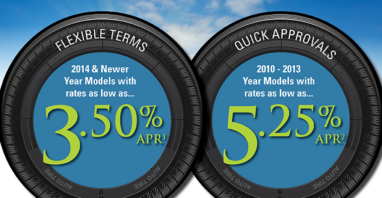 Image of a auto loan specials 2014 & newer models receive 3.5% & 2010-2013 year models at 5.25% APR