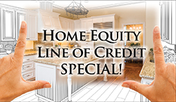 Image of a kitchen stating home equity line of credit