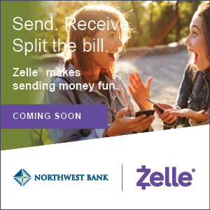 image of send. receive. split the bill. zelle is coming soon!
