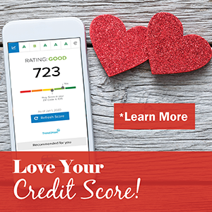 Love Your Credit Score - image of phone and two hearts