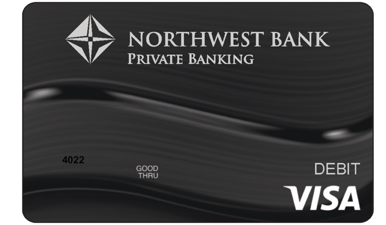 Image of a Northwest Bank Private Banking Debit Card