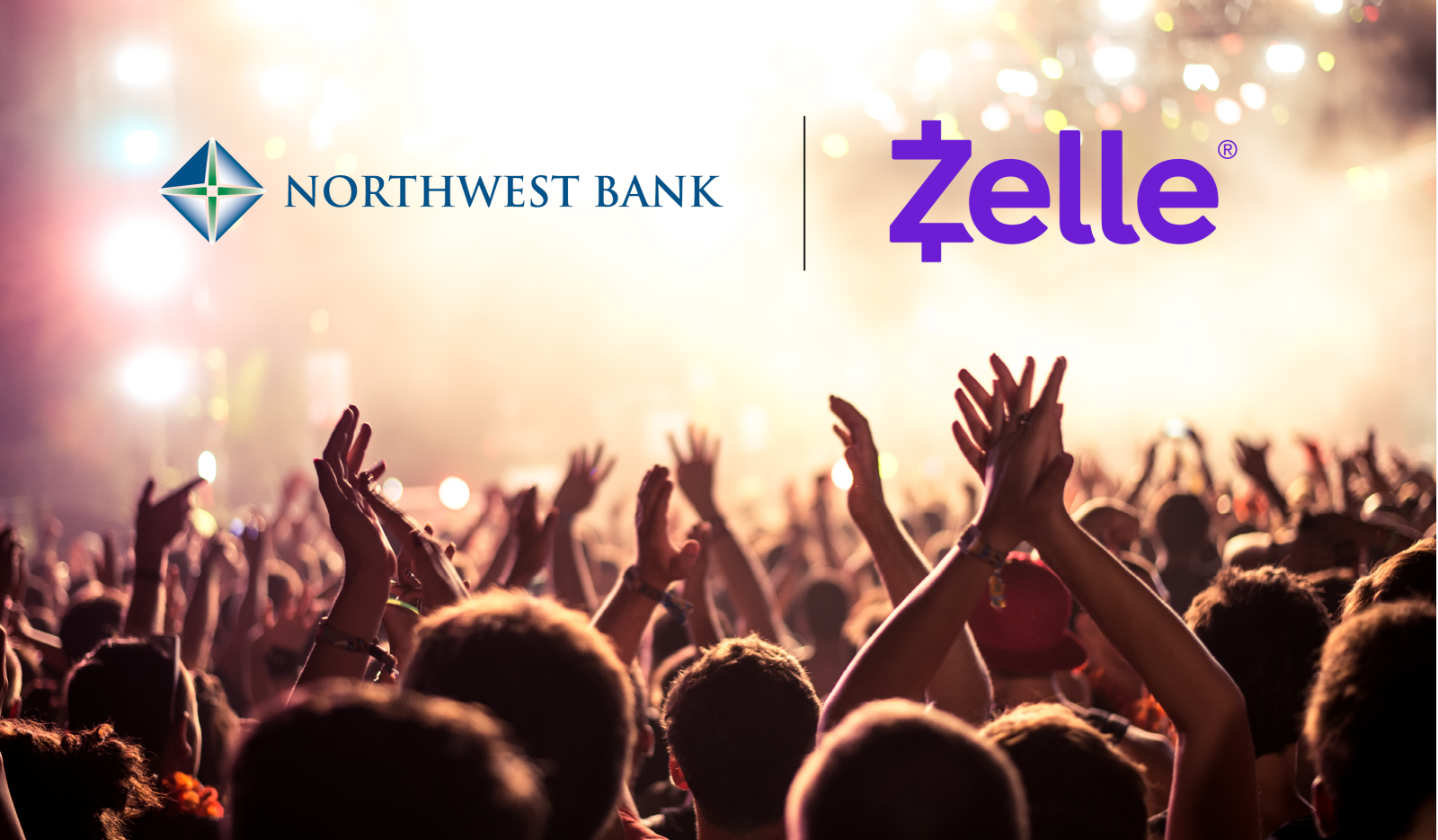 Image people at a concert with the Zelle Logo