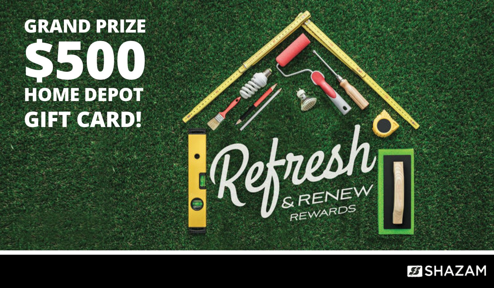 Refresh and Renew Grand prize $500 Home Depot Gift Card
