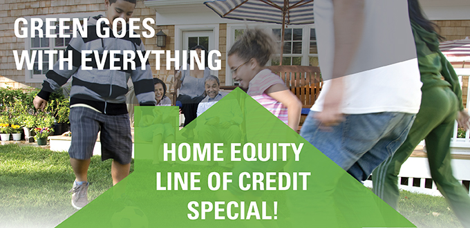 image of a family playing soccer. Home equity line of credit special
