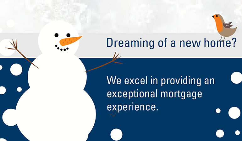 Dreaming of a new home snowman image