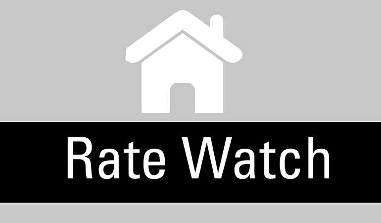 Image of a house icon stating Rate Watch