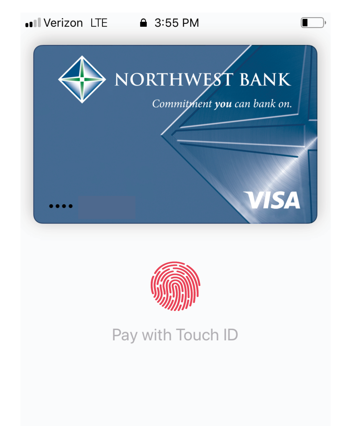 Image of mobile wallet sample.