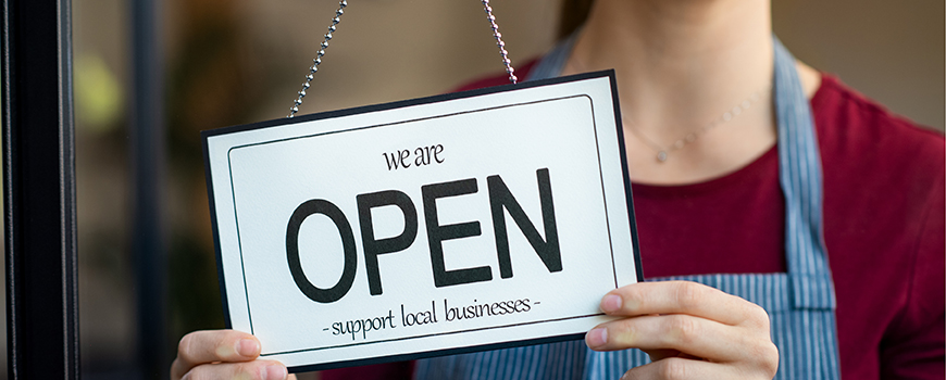 Image of We are open - support local business