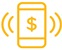 Image of a mobile phone with a dollar sign icon