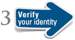 image of a step 3 arrow stating verify your identity