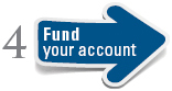 image of a step 4 arrow stating fund your account