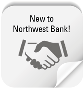 Button to open your account now for new Northwest Bank customers