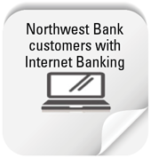 Button to open an account online for Northwest Bank customers with internet banking