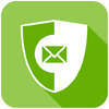 Image of a shield with an envelope on it icon