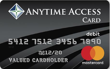 Image of a Business Anytime Access Card
