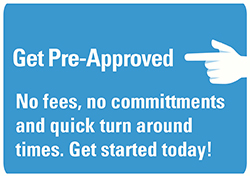 Image of a button to get pre approved for a mortgage loan
