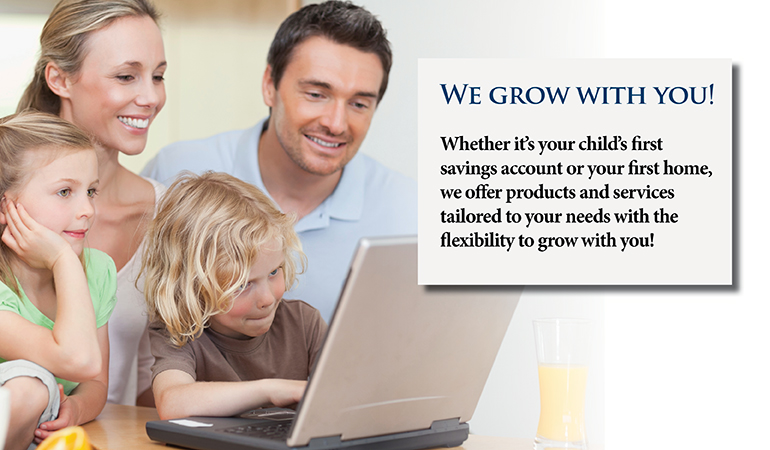 image of a family looking at a laptop