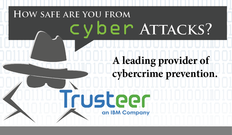 image of the trusteer logo stating how safe are you from cyber attacks