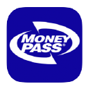 Blue Square with Money Pass white logo