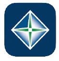 Blue Square with Northwest Bank green and white diamond shaped logo