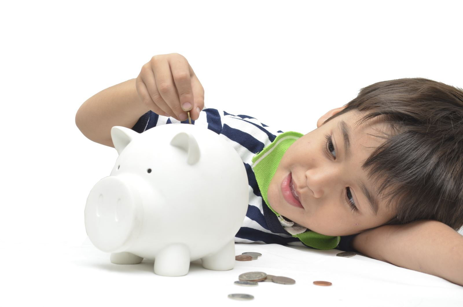 Image of a Boy with piggy bank